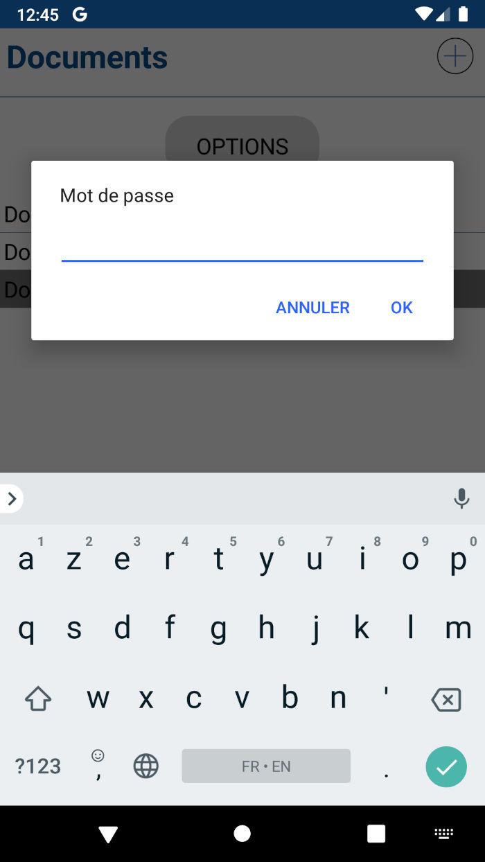 Application Spark Zip - Mot de passe